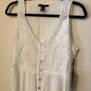 NWT Forever 21 Crochet Lace Maxi Dress